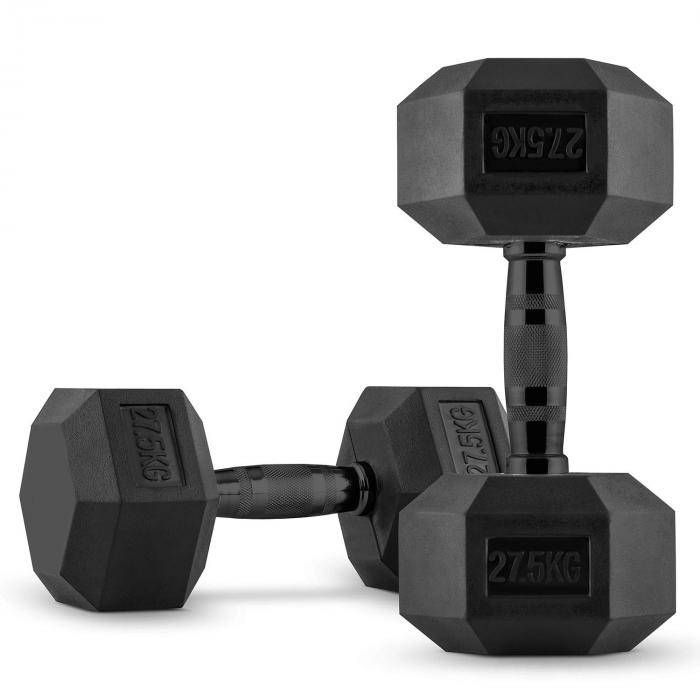 Image of Capital Sports Hexbell käsipainot 2 x 27,5 kg musta
