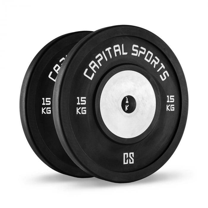 Capital Sports Inval Hi grade Competition levypainot 50 mm alumiinisisus 2 x 15 kg