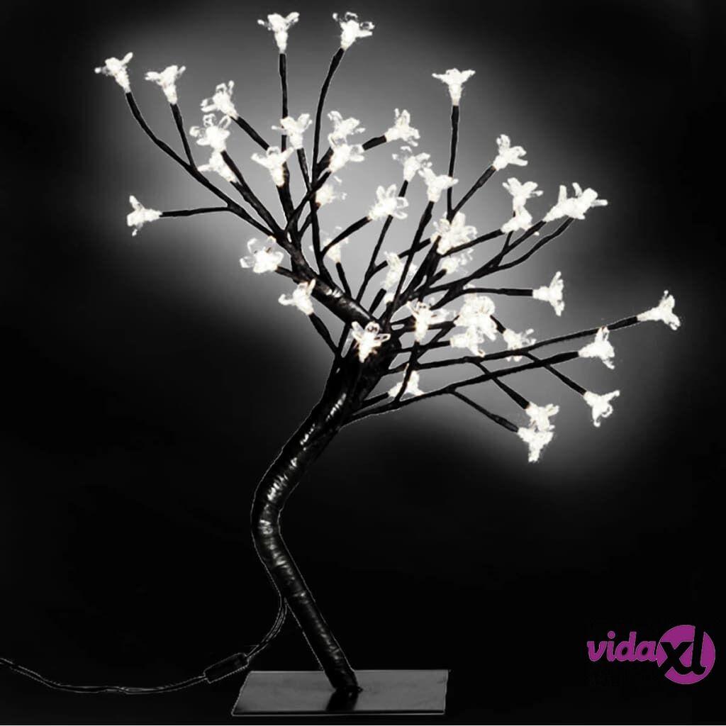 vidaXL 2 x Kirsikankukka LED Valopuu Valkoinen Valo