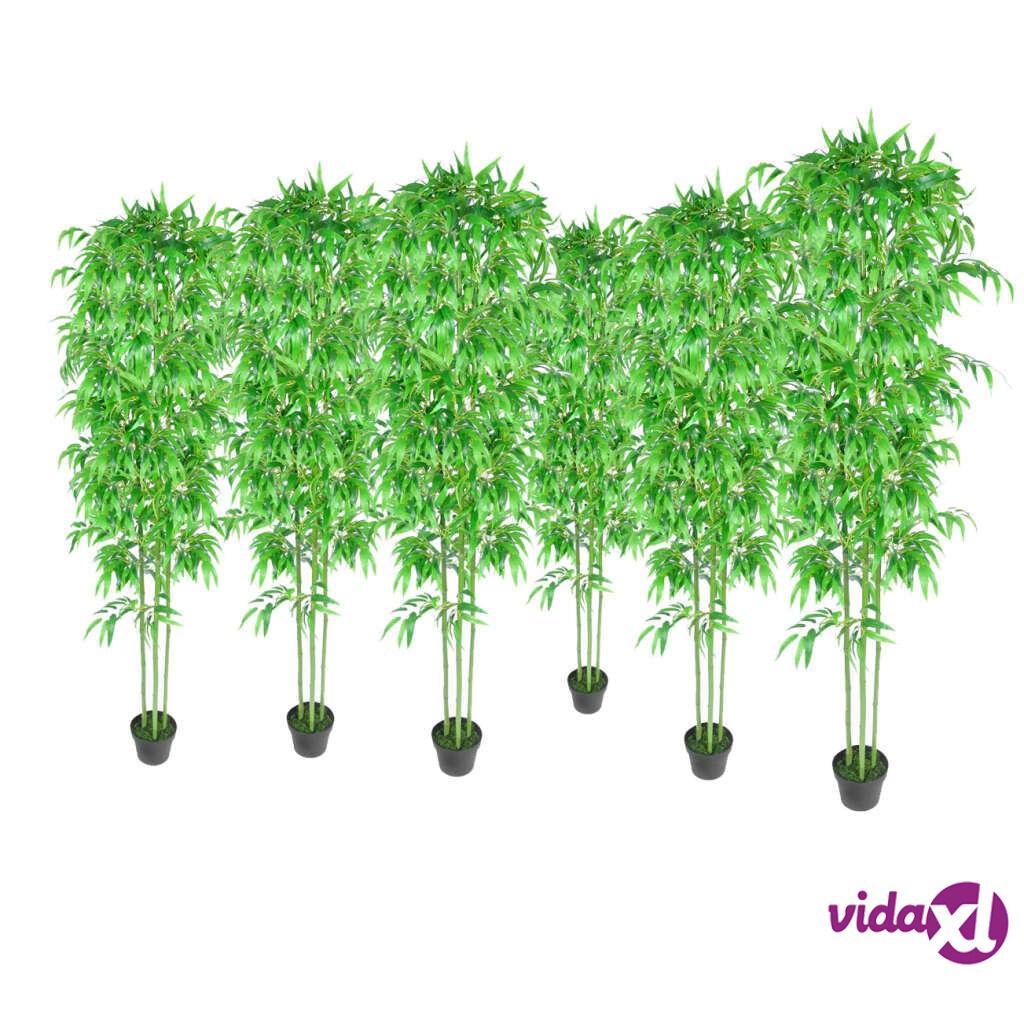Image of vidaXL Bambu 6-osainen Keinokasvisarja Kotiin