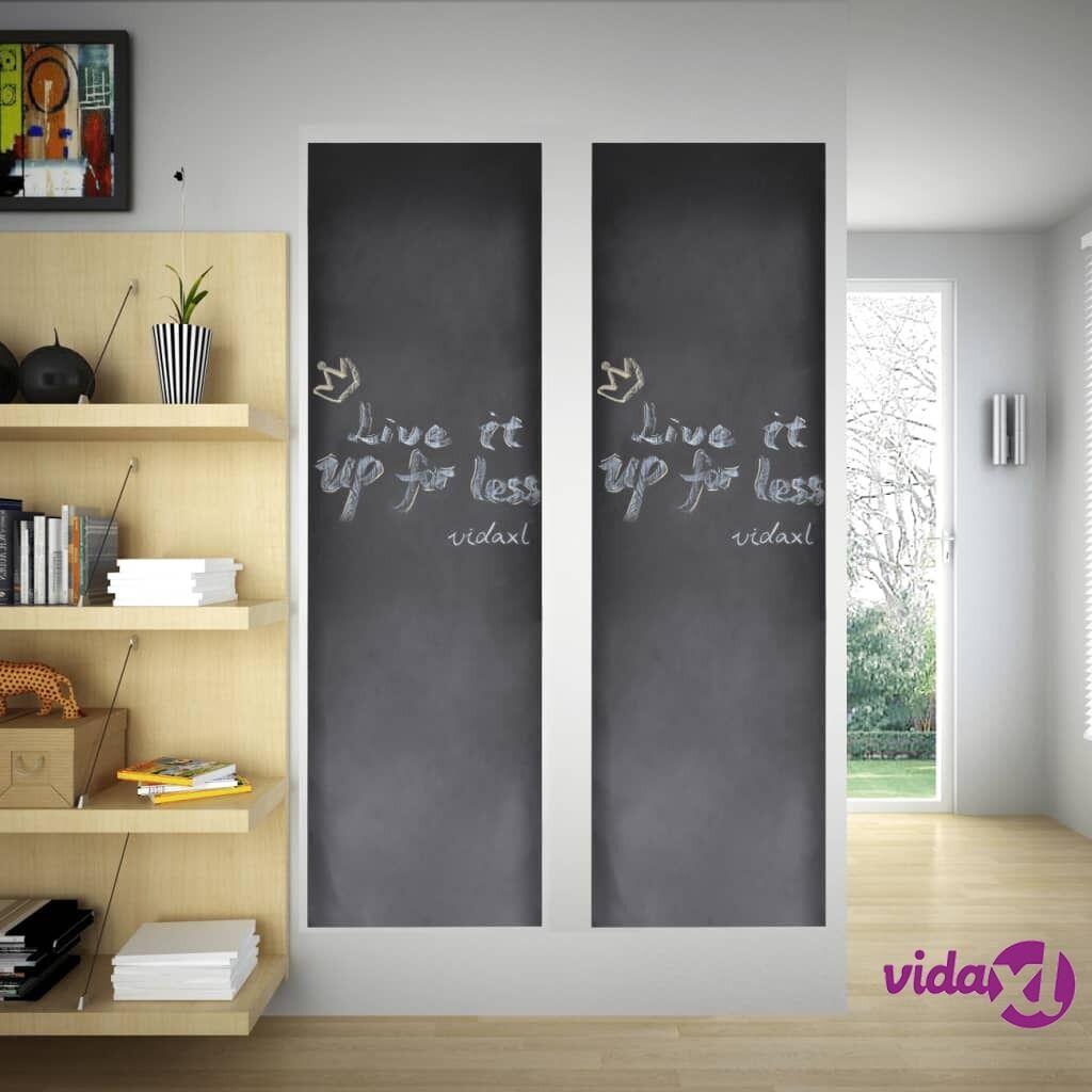 Image of vidaXL Seinätarra Liitutaulu 0,6 x 3 m 2 Rullaa Liiduilla
