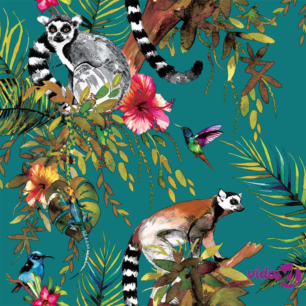 DUTCH WALLCOVERINGS Tapetti lemuri vihreä 12402