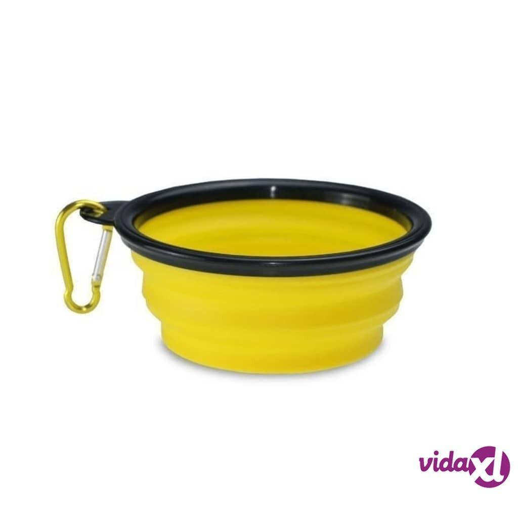 Image of eStore Taitettava koiran vesikuppi - Keltainen