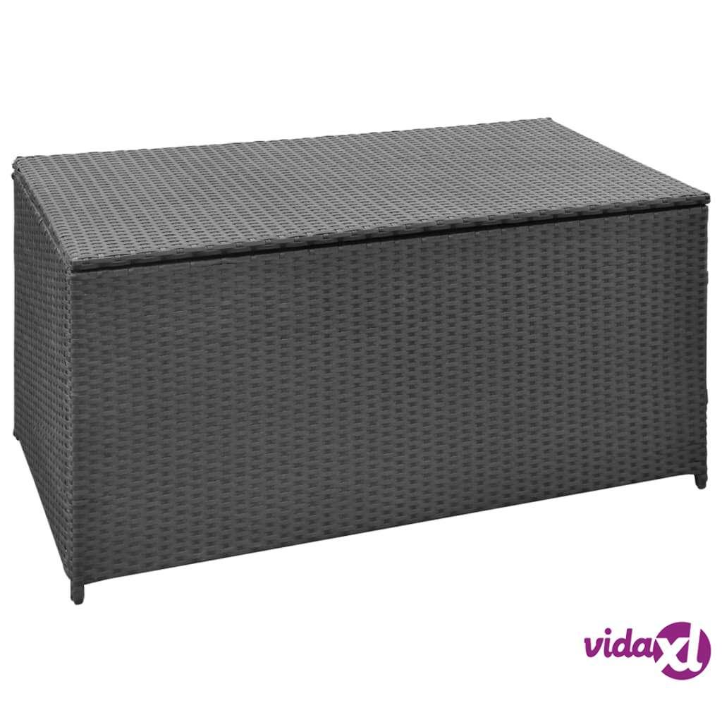 Image of vidaXL Puutarhan säilytyslaatikko musta 120 x 50 x 60 cm polyrottinki