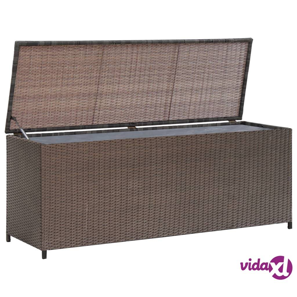 Image of vidaXL Puutarhan säilytyslaatikko ruskea 120 x 50 x 60 cm polyrottinki