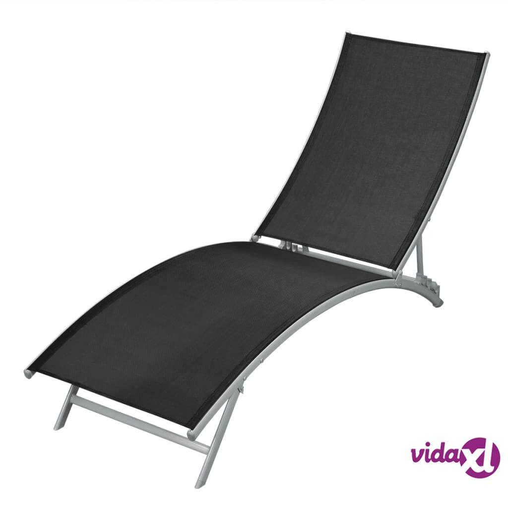Image of vidaXL Aurinkotuoli teräs ja textilene musta