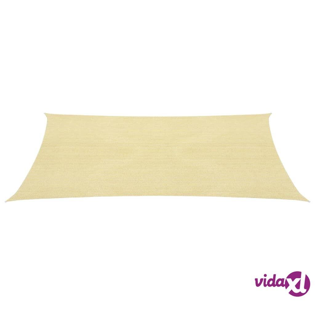 Image of vidaXL Aurinkopurje HDPE neliönmuotoinen 2x2 m beige