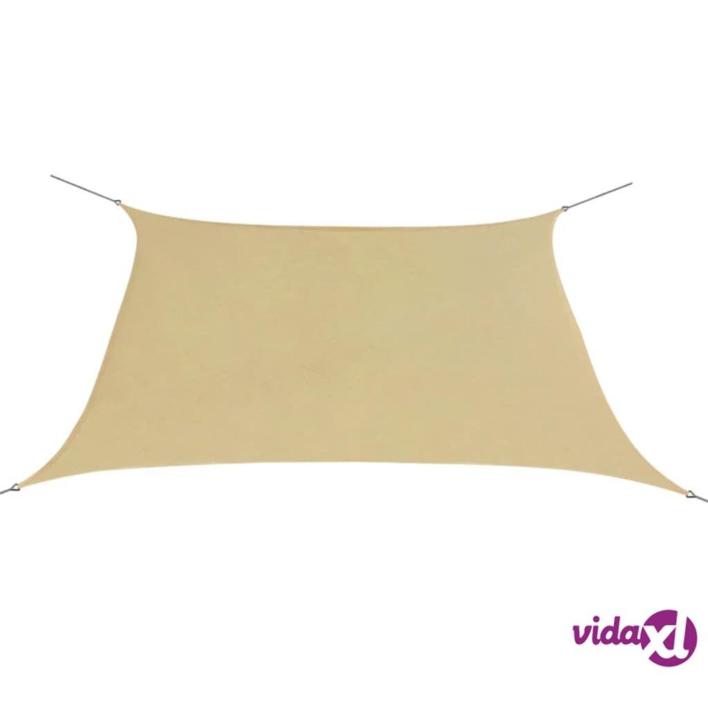 Image of vidaXL Aurinkopurje Oxford-kangas neliönmuotoinen 2x2 m beige