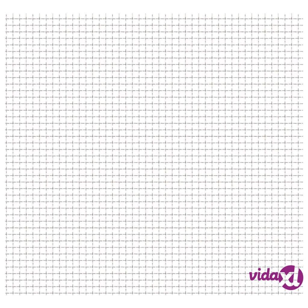 Image of vidaXL Verkkoaitapaneeli ruostumaton teräs 100x85 cm 21x21x2,5 mm
