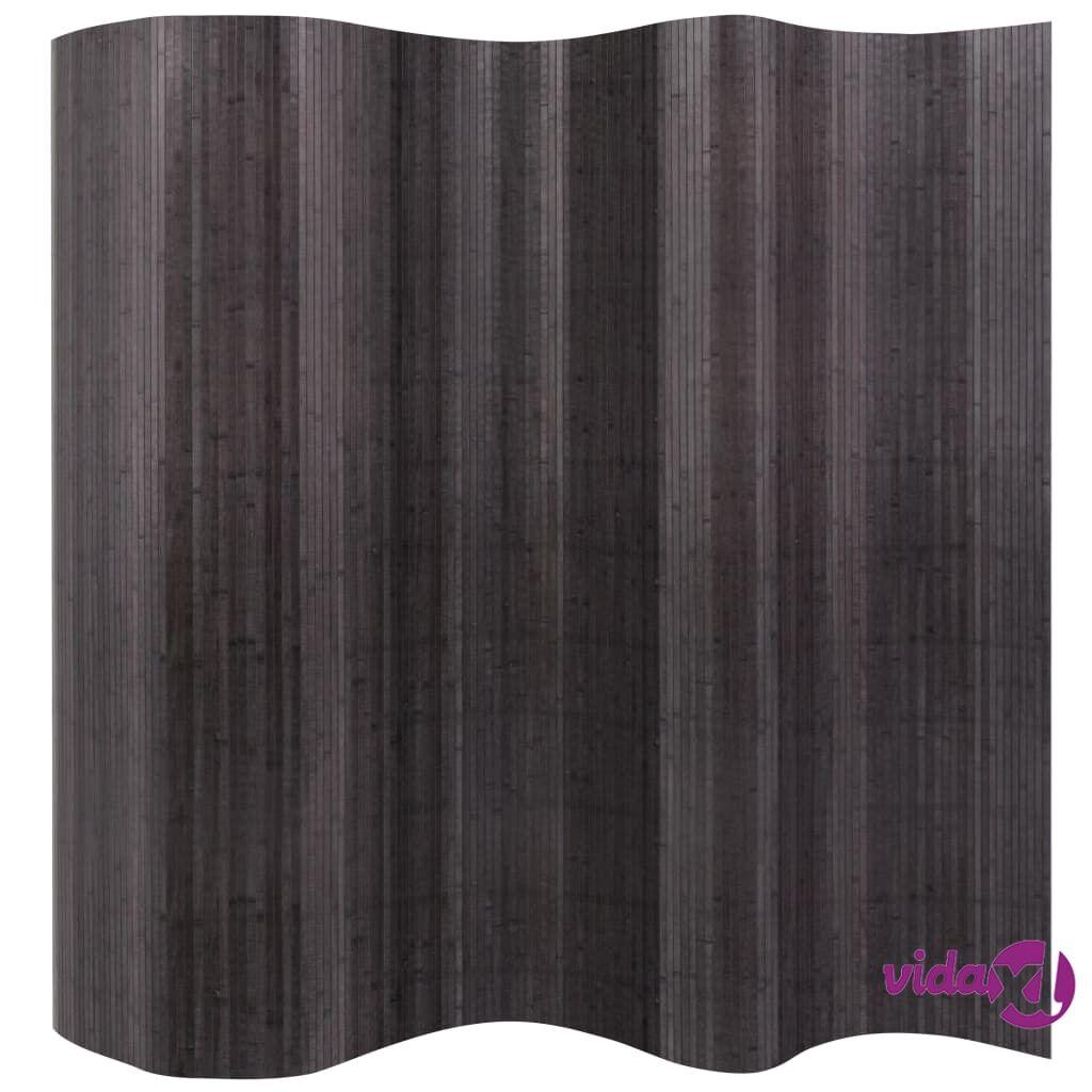 Image of vidaXL Tilanjakaja bambu 250x195 cm Harmaa