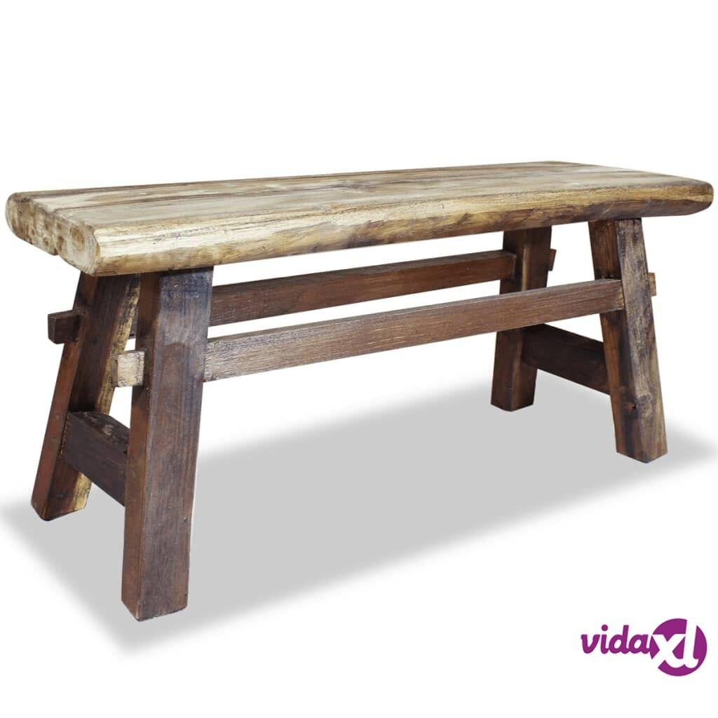 Image of vidaXL Penkki Kiinteä kierrätetty puu 100x28x43 cm