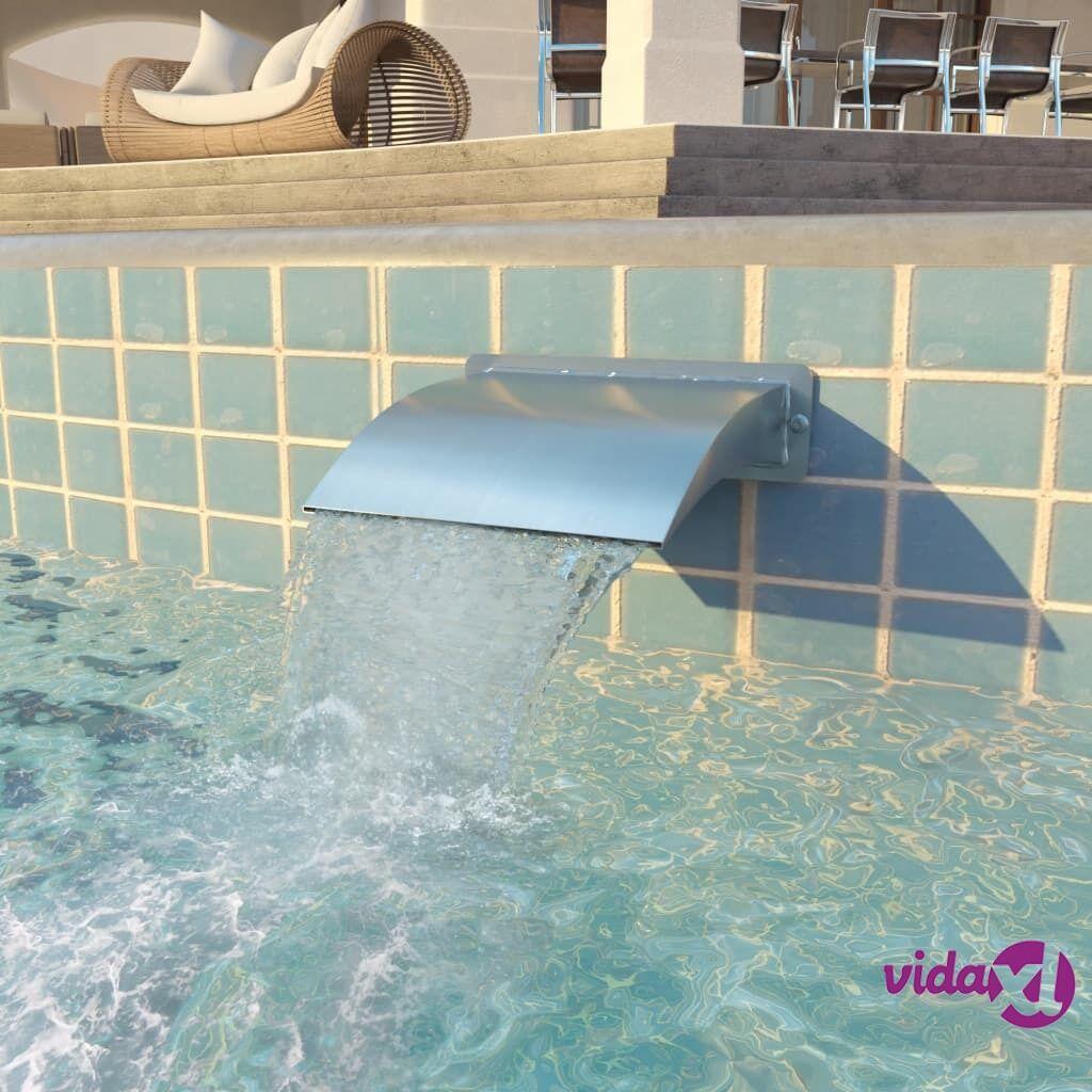 vidaXL Uima-altaan suihkulähde Ruostumaton teräs 30x9x26 cm Hopea