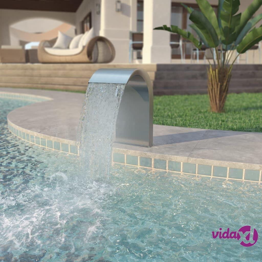 vidaXL Uima-altaan suihkulähde Ruostumaton teräs 45x30x65 cm Hopea