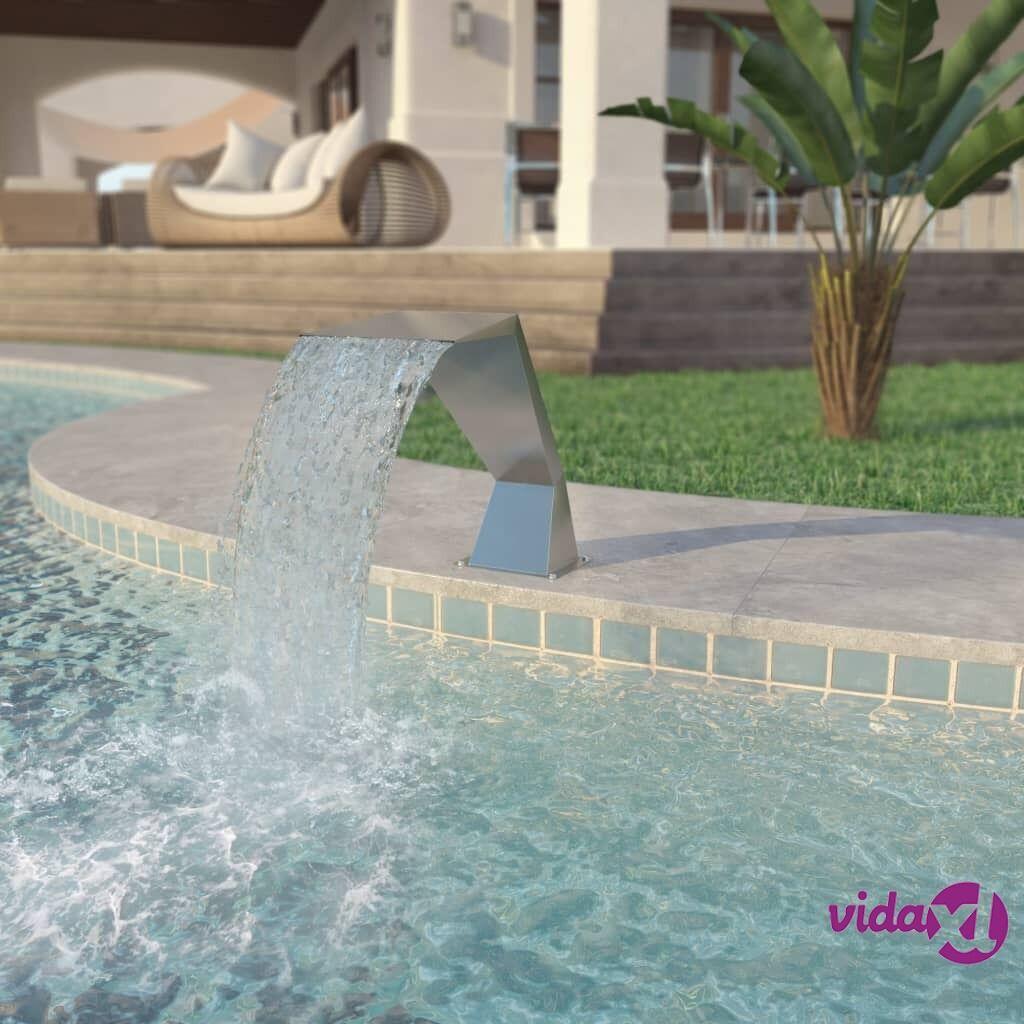 vidaXL Uima-altaan suihkulähde Ruostumaton teräs 64x30x52 cm Hopea