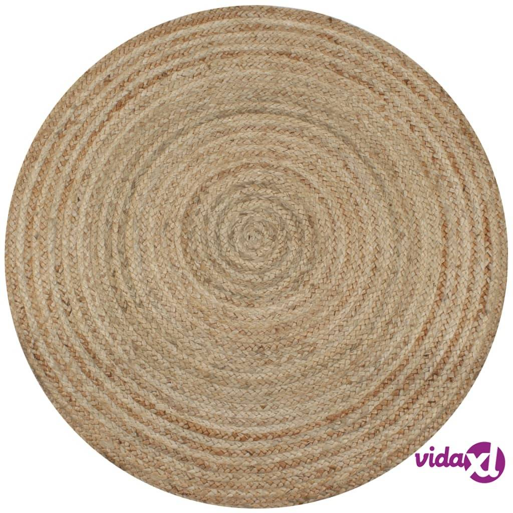 Image of vidaXL Pyöreä matto 150 cm punottu juutti