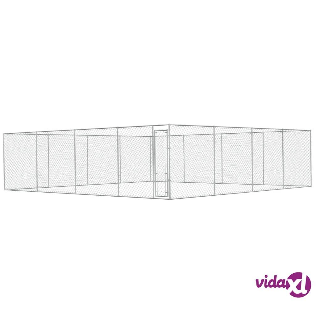 Image of vidaXL Koiran ulkohäkki galvanoitu teräs 8x8 m