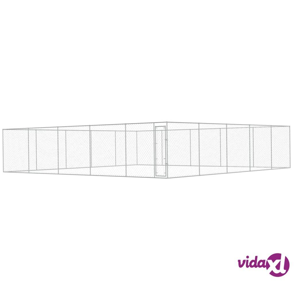 Image of vidaXL Koiran ulkohäkki galvanoitu teräs 10x10 m