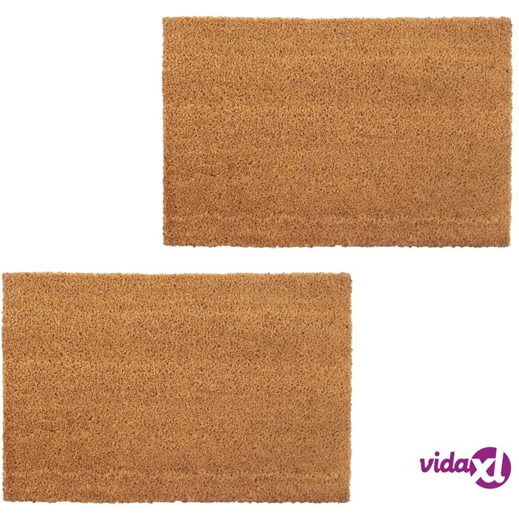 Image of vidaXL Ovimatot 2 kpl kookoskuitu 24 mm 40x60 cm luonnollinen