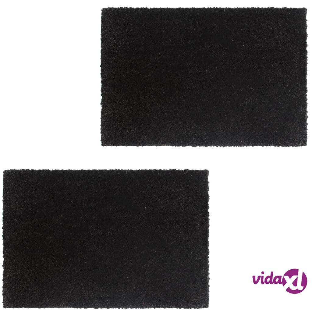 Image of vidaXL Ovimatot 2 kpl kookoskuitu 24 mm 50x80 cm musta