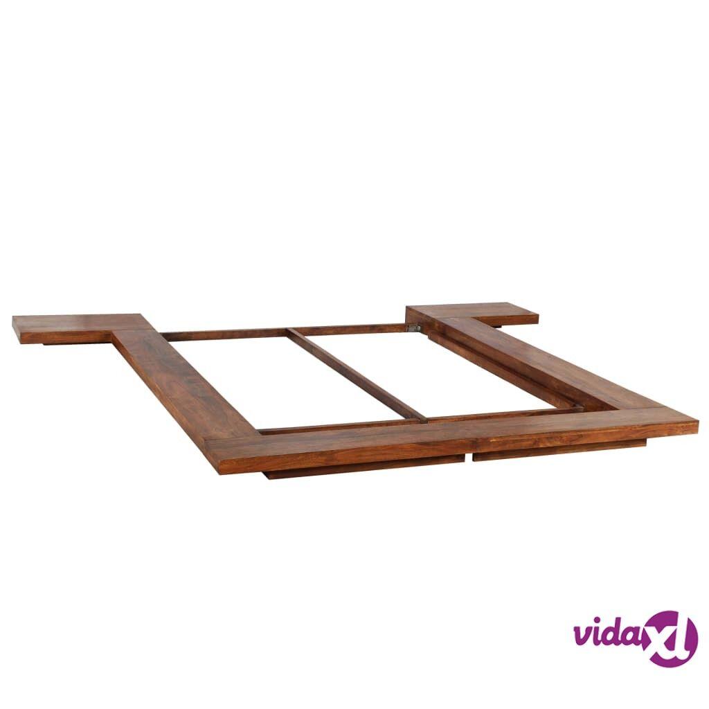 Image of vidaXL Japanilaistyylinen futonsängyn runko puu 1,4 x 2 m