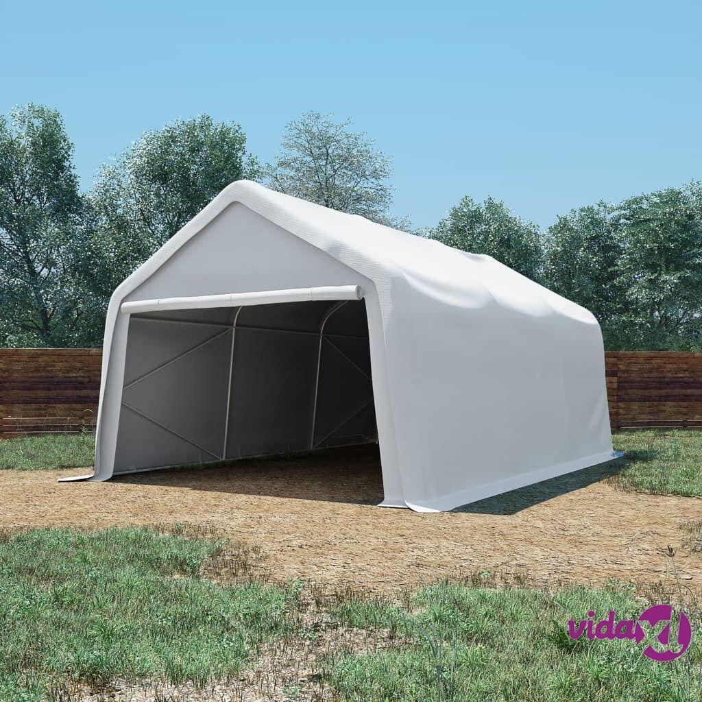 Image of vidaXL Varastoteltta PVC 550 g/m² 4x6 m valkoinen