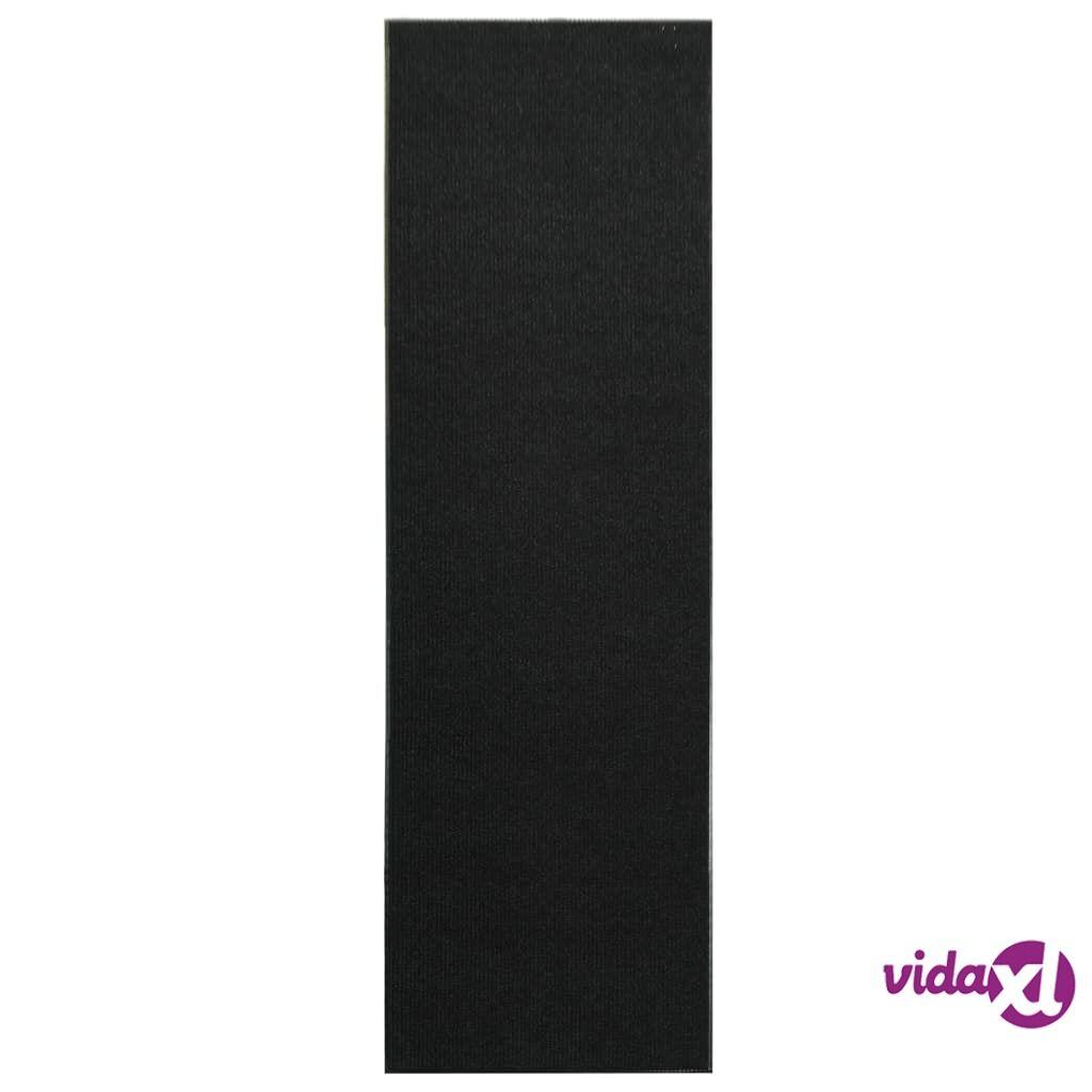 Image of vidaXL Ovimatto liukumattomalla vinyylitaustalla 1,2x10 m musta