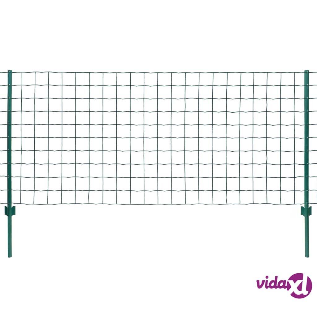 Image of vidaXL Euro-aitasarja teräs 20x1,2 m vihreä