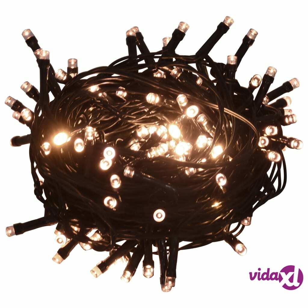 vidaXL Valonauha 400 LEDiä sisä- ja ulkokäyttöön 40 m lämmin valkoinen