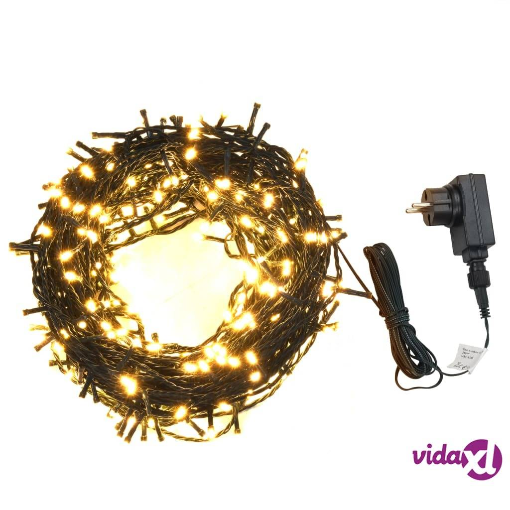 vidaXL Valonauha 600 LEDiä sisä- ja ulkokäyttöön 60 m lämmin valkoinen