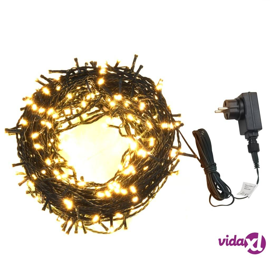 vidaXL Valonauha 1000 LEDiä sisä- ja ulkokäyttöön 100 m lämmin valk.