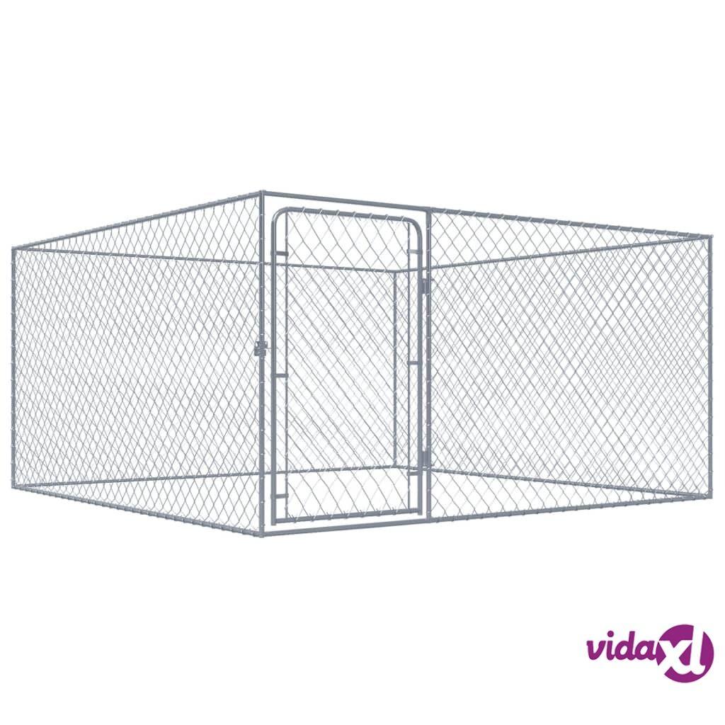 Image of vidaXL Koiran ulkohäkki galvanoitu teräs 2x2 m