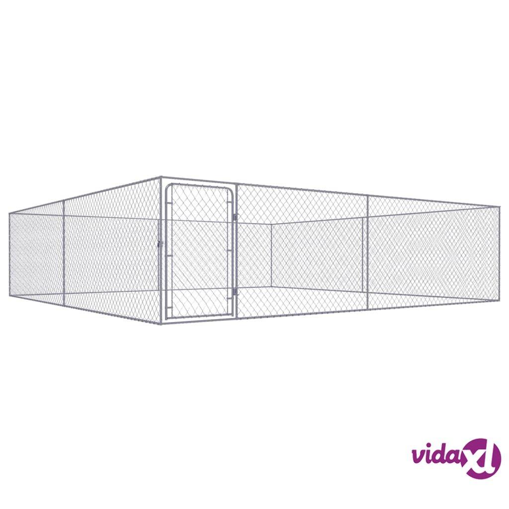Image of vidaXL Koiran ulkohäkki galvanoitu teräs 4x4 m