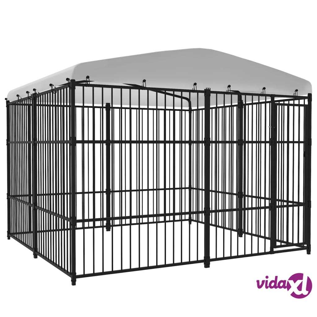 Image of vidaXL Koiran ulkohäkki katoksella 300x300 cm