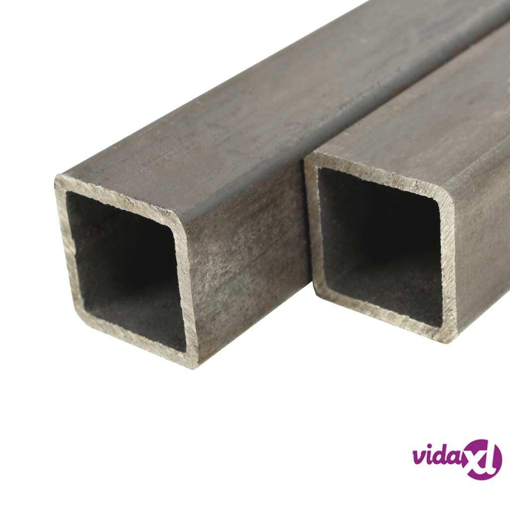 Image of vidaXL Teräsprofiiliputket 2 kpl neliö 2 m 50x50x2mm