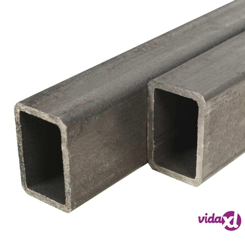 Image of vidaXL Teräsprofiilit 4 kpl suorakaide 2 m 40x30x2mm