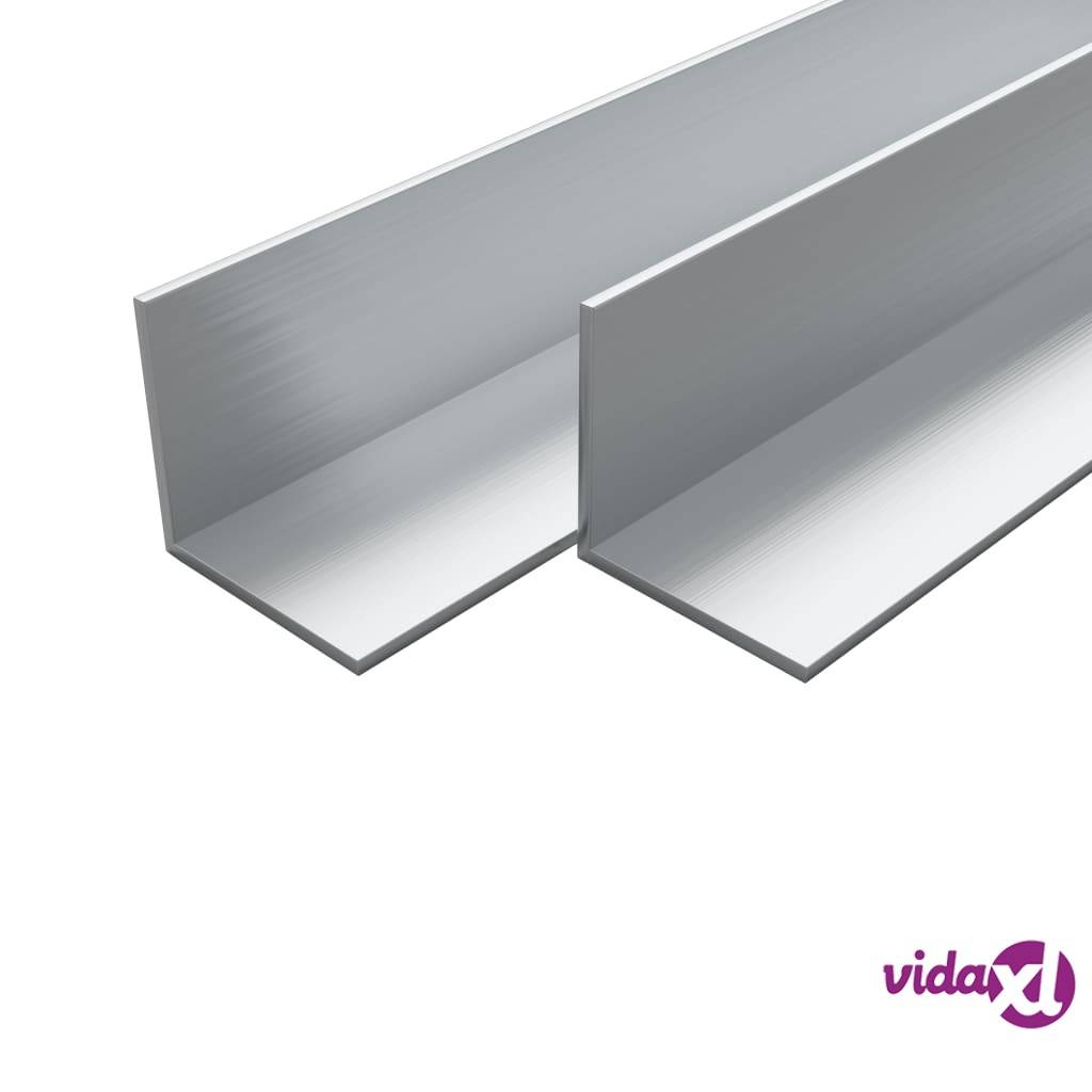 Image of vidaXL 4 kpl Alumiinikulmapalkit L-profiili 1m 50x50x2mm