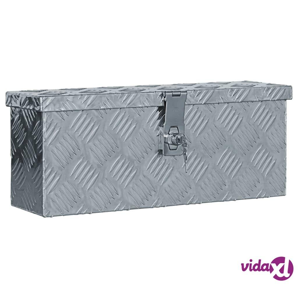 Image of vidaXL Alumiinilaatikko 48,5x14x20 cm hopea