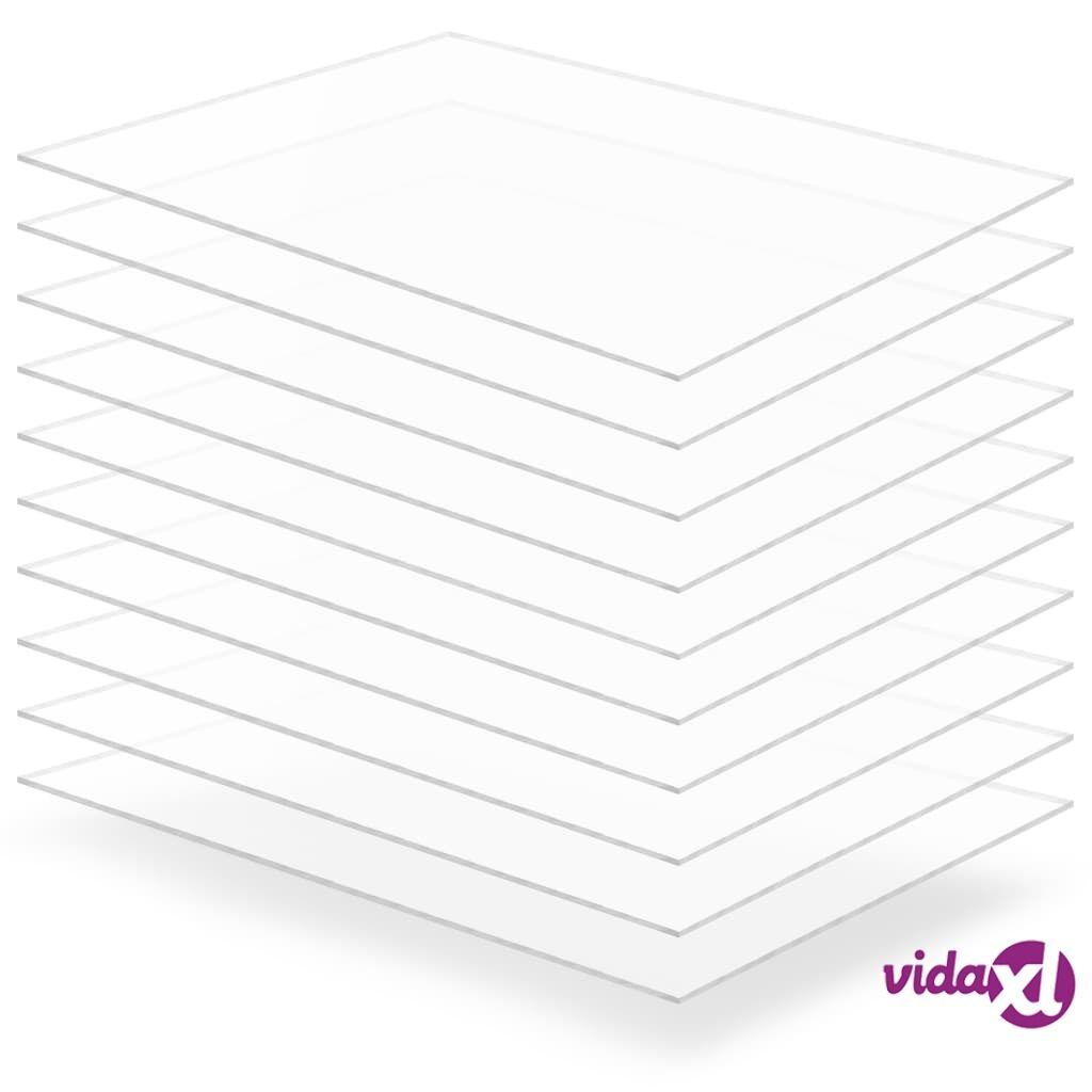 Image of vidaXL Kirkkaat akryylilasilevyt 10 kpl 60x80 cm 4 mm