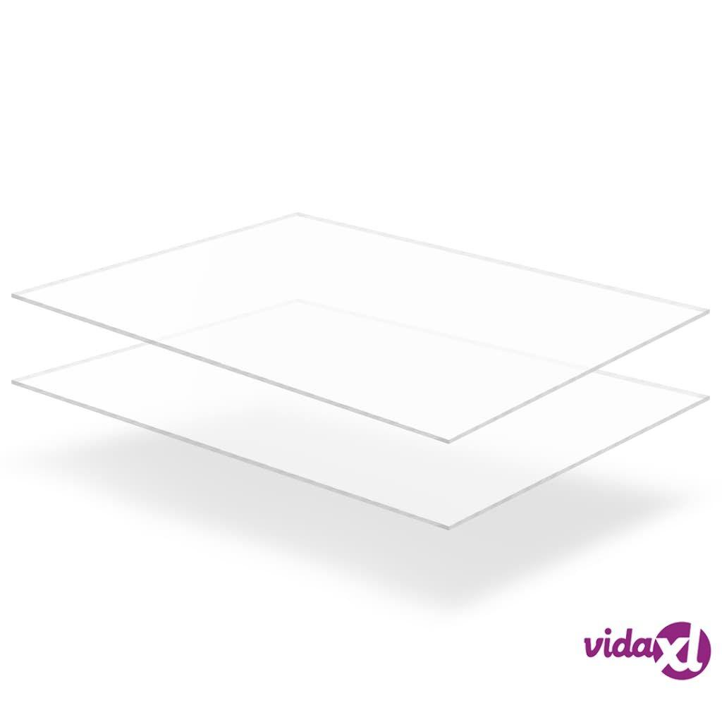 Image of vidaXL Kirkkaat akryylilevyt 2 kpl 60x80 cm 5 mm