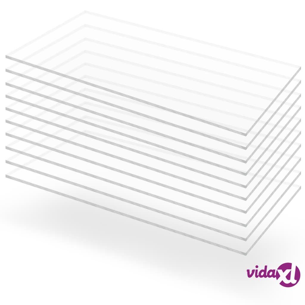 Image of vidaXL Kirkkaat akryylilasilevyt 10 kpl 60x120 cm 2 mm