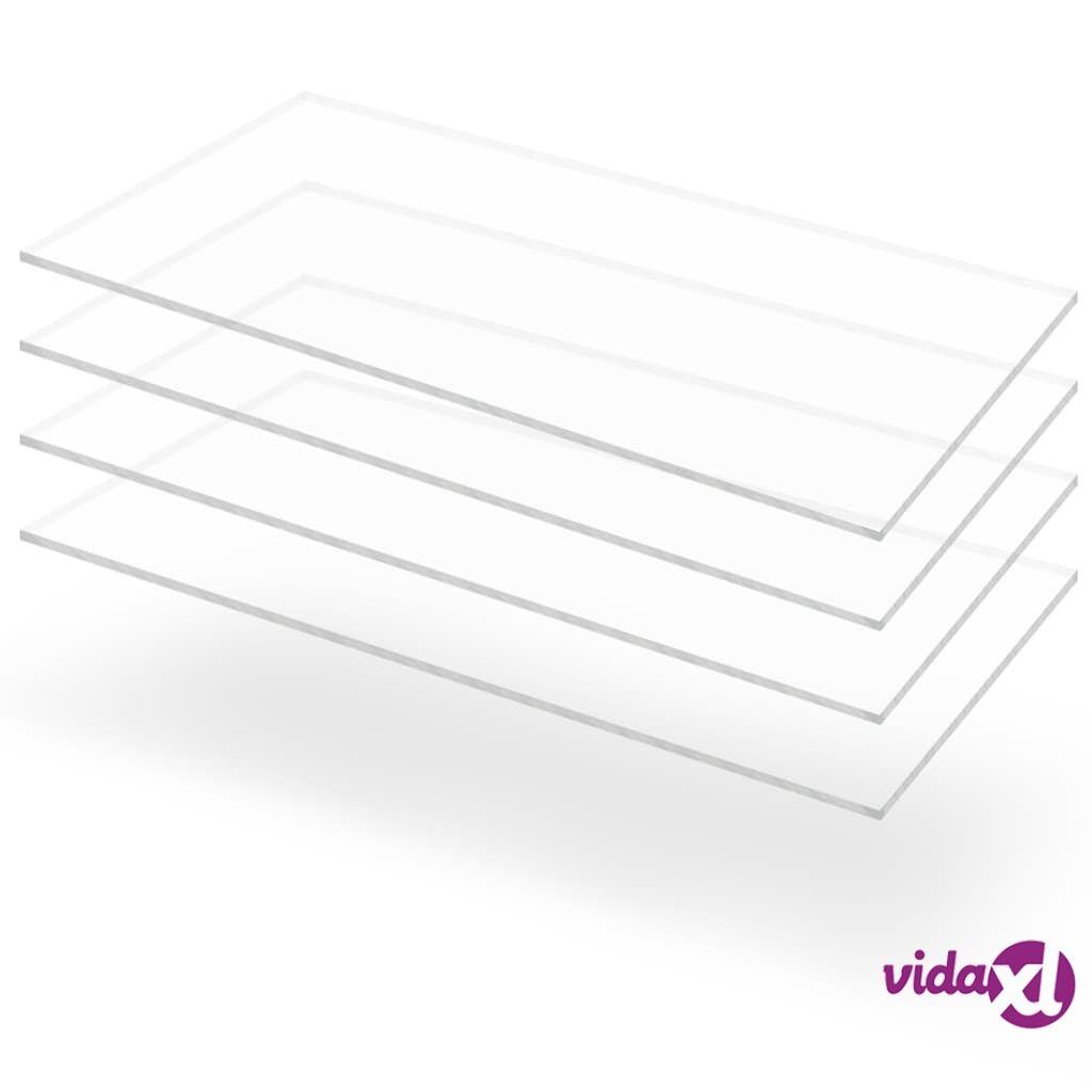 Image of vidaXL Kirkkaat akryylilasilevyt 4 kpl 60x120 cm 4 mm