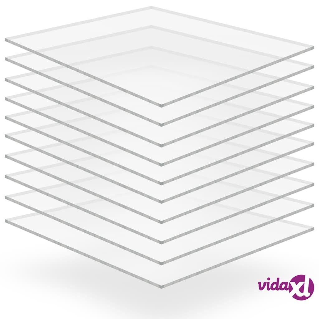 Image of vidaXL Kirkkaat akryylilasilevyt 10 kpl 40x60 cm 2 mm