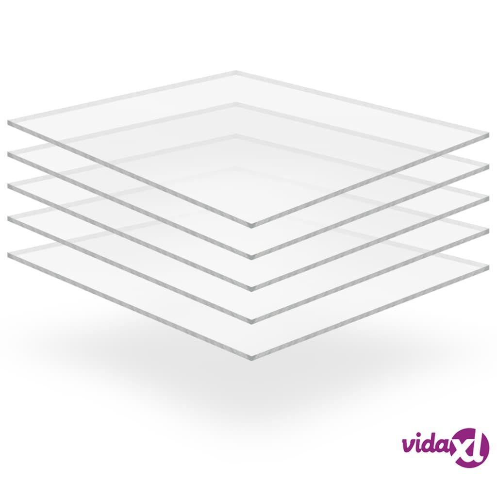 Image of vidaXL Kirkkaat akryylilasilevyt 5 kpl 40x60 cm 4 mm
