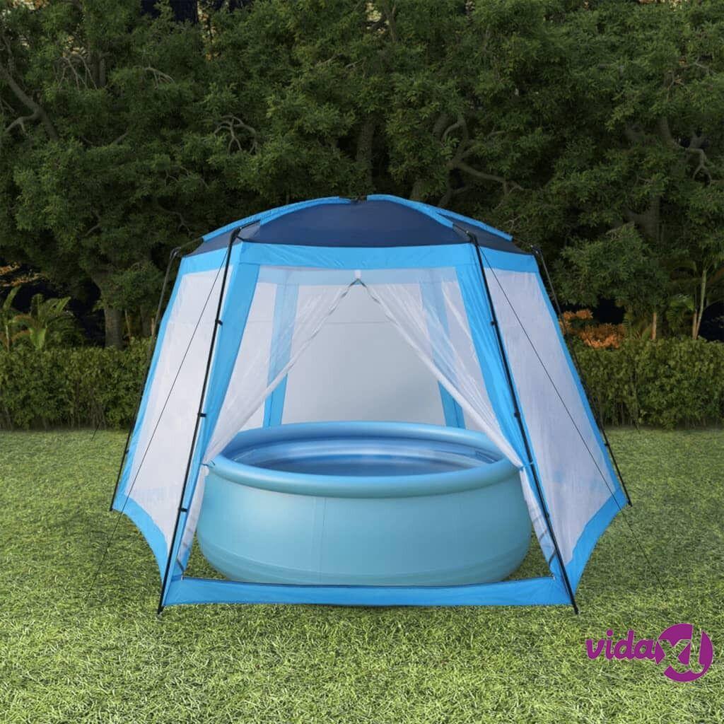vidaXL Uima-altaan teltta 500x433x250 cm sininen