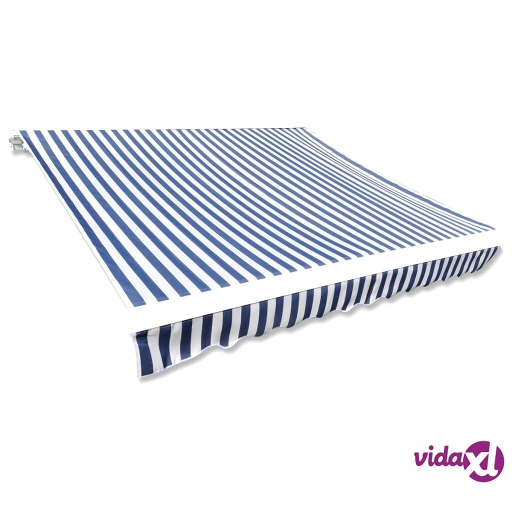 Image of vidaXL Markiisikangas sininen ja valkoinen 350x250 cm