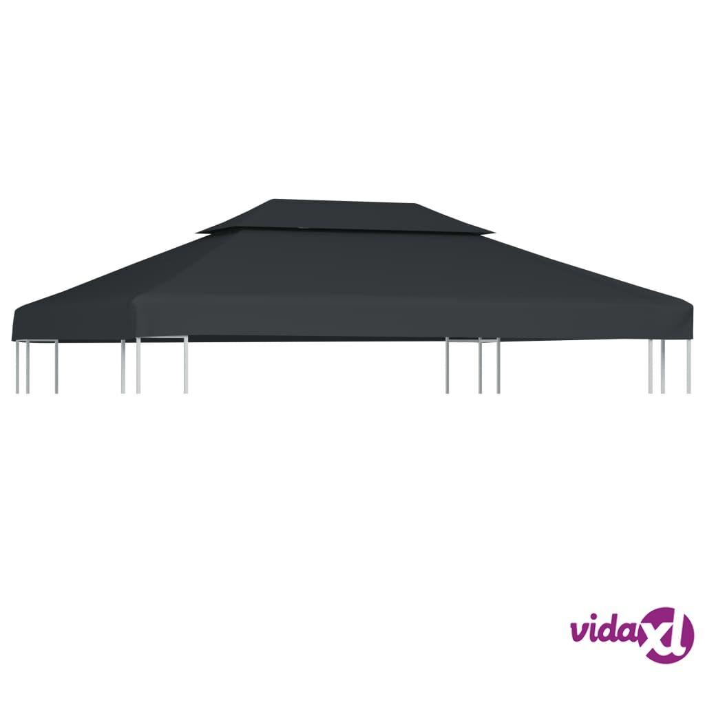 Image of vidaXL Kaksikerroksinen huvimajan katto 310 g / m² 4x3 m antrasiitti