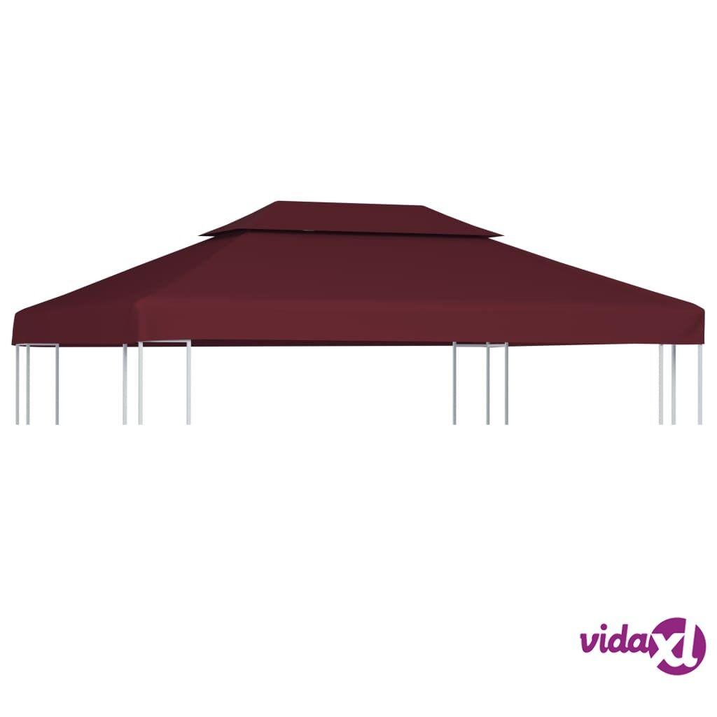Image of vidaXL Huvimajan katto 2 kerrosta 310 g/m² 4x3 m viininpunainen