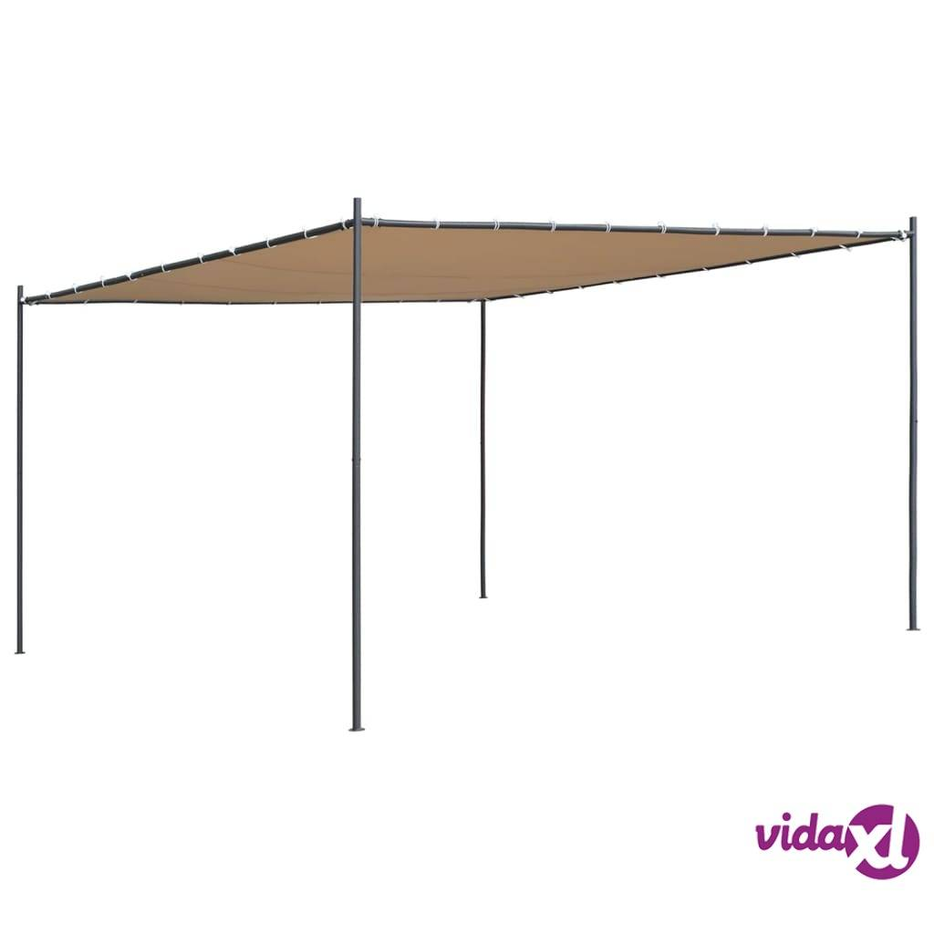 Image of vidaXL Huvimaja tasakatolla 4x4x2,4 m beige