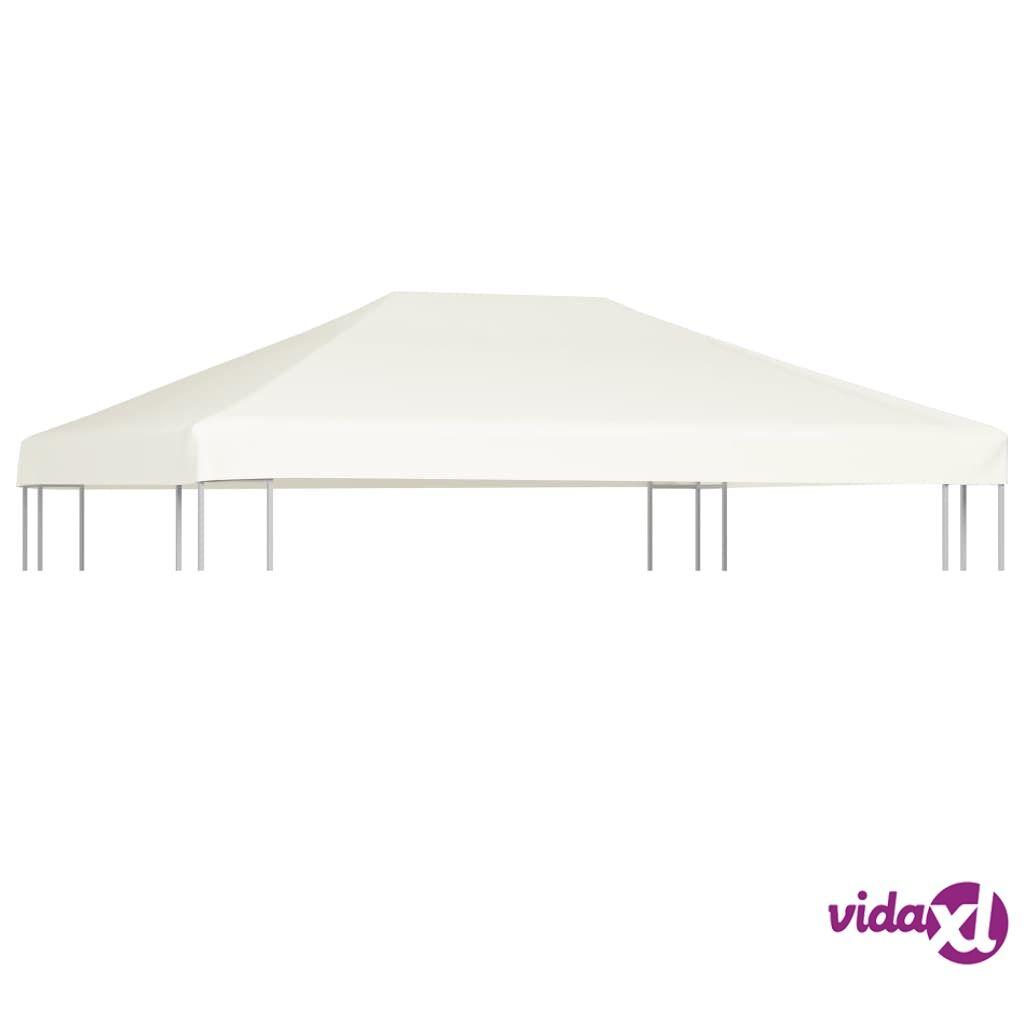 Image of vidaXL Huvimajan katto 310 g/m² 4x3 m kermanvalkoinen