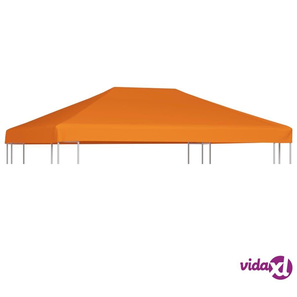 Image of vidaXL Huvimajan katto 310 g/m² 4x3 m oranssi